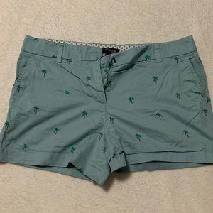 Teal, palm tree shorts